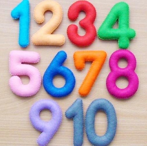 Цифра из фетра своими руками 81